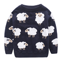 2016 Kids Sweaters Lovely lamb pattern Winter Pullover Baby Boys Girls Warm Long Sleeve Sweater Clothing Kids T-shirt invierno