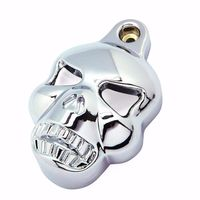 Motorcycle Chrome Skull Horn Cover For Harley Sportster Dyna Softail Glide Ultra Road King Classic Custom