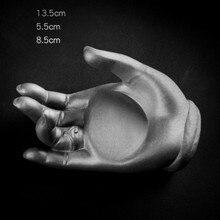 Concrete Desktop Decorating 3D Hand Mold Small Flower pot Tray Soap Dish Silicon