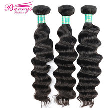 Berrys Fashion Peruvian Virgin Hair Loose Wave 100% Human Hair Bundles 3pcs/lot Unprocessed Human Hair Weft(China)