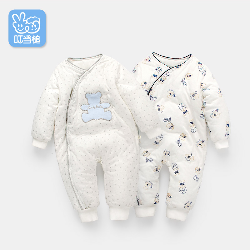 Dinstry winter jumpsuit newborn baby pattern clothes thickening warm cotton romper dinstry 2018 spring and autumn newborn baby cotton long sleeve romper lion pattern