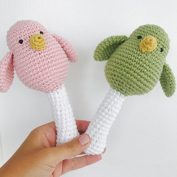 Häkeln Babyrassel Baby Vogel Rassel Kleinkind Crochet Toyr Geschenk ...