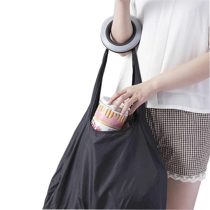 Fashion Shopping Storage Bag Rotating Folding Packages Organizer portable Large Nylon Bag Plastic Container Storage Box