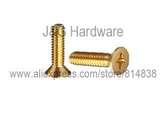 M4 Brass Machine Screw Countersunk Head Flat head 100pcs brass flat head screw m2 m2 5 m3 brass cross recessed countersunk head machine screws