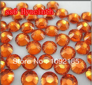 SS6 Hyacinth  Color 10000pcs/pack Flatback Acrylic Rhinestones Nail Art Rhinestones Free Shipping