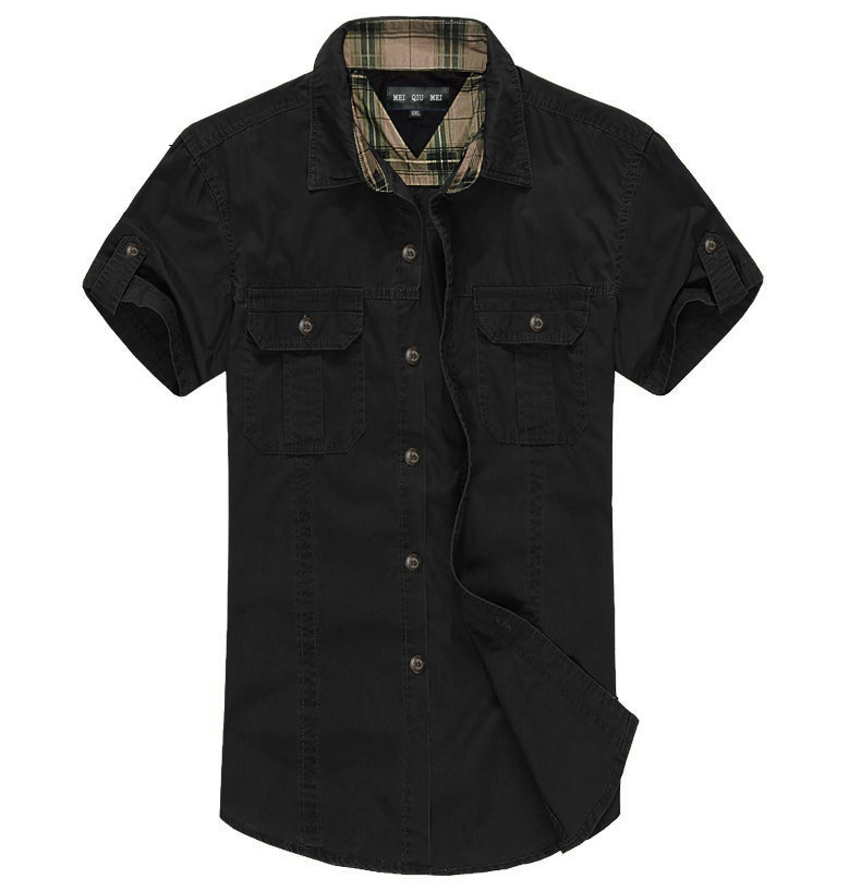 Buy new arrival men double pocket tooling for Mens double pocket short sleeve shirts