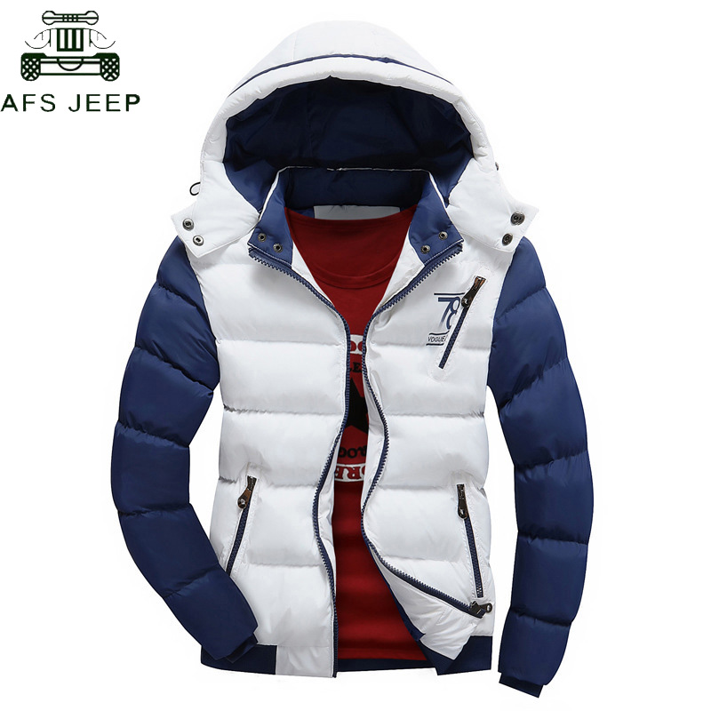 New 2018 Winter Jacket Men Warm Down Jacket Casual   Parka   Men padded Casual Slim fit Jackets Hooded Winter Coat Men Plus Size 4XL