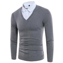 Men Fashion Sweater V-Neck Thick Knitting Warm Winter Pullovers Plus Size Casual Mens Sweaters