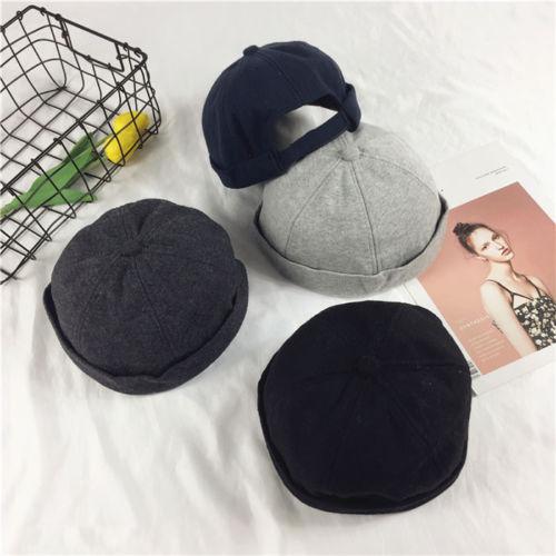 Women Men Casual Adjust Docker Hat Sailor Cotton Cap Mechanic Biker Hat  Skull Cap Beanies b0b41c06b20