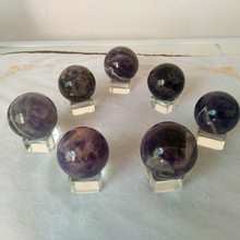 40MM 7pcs pack Natural wicca fantasy amethyst stone ball quartz crystal ball Decorative ball stones and