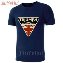 8f6aa129 jiuyehui 2018 Craked Union Jack Triumph Motorcycle TShirt UK Flag Clothing  T Shirt