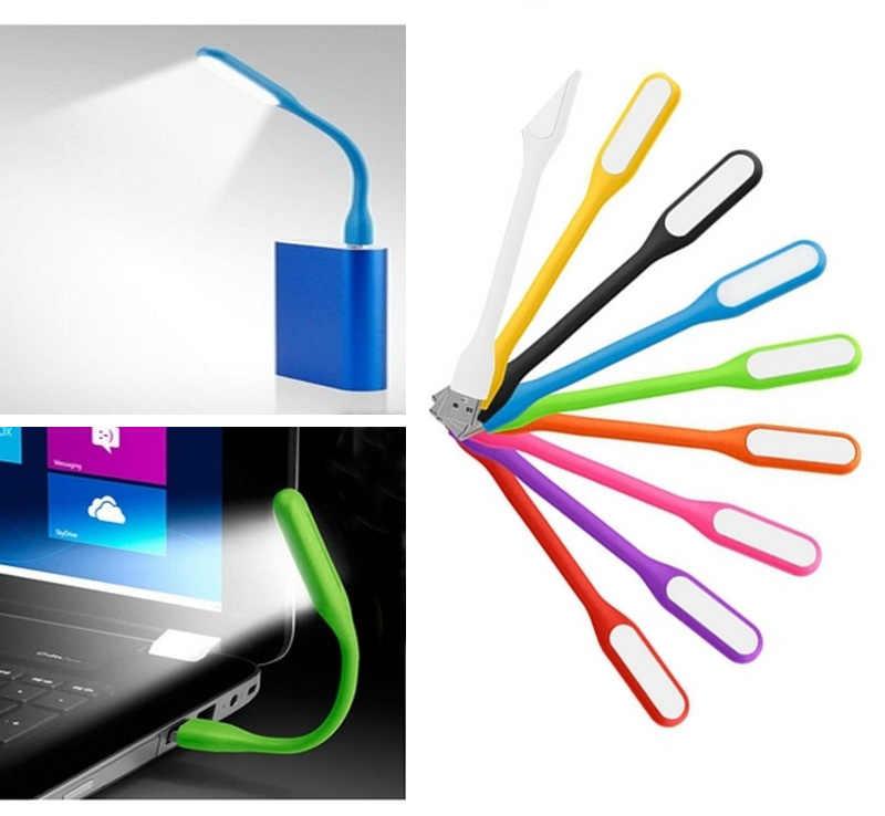 1 個ホワイトポータブルミニ Usb Led ブックライトラップトップモバイル電源コンピュータ柔軟な折りたたみクリエイティブブック Usb ライト読書ランプ