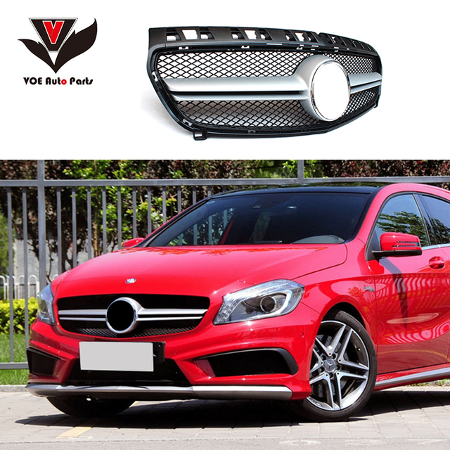 W176 ABS AMG Style Front Racing Grill Grille For Mercedes