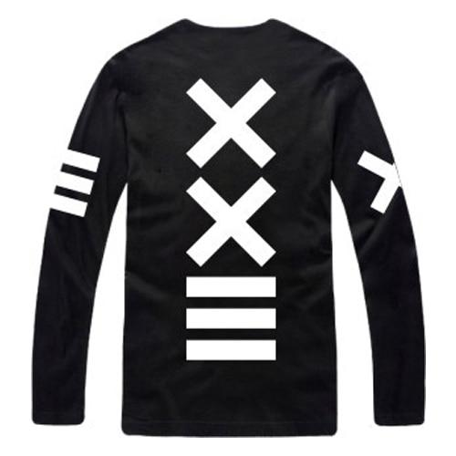 2016 Nova Impresso Mens T-shirt Dos Homens De Manga Longa De Fitness Hip Hop Harajuku Camiseta Streetwear Punk Rock Camiseta TS2014006