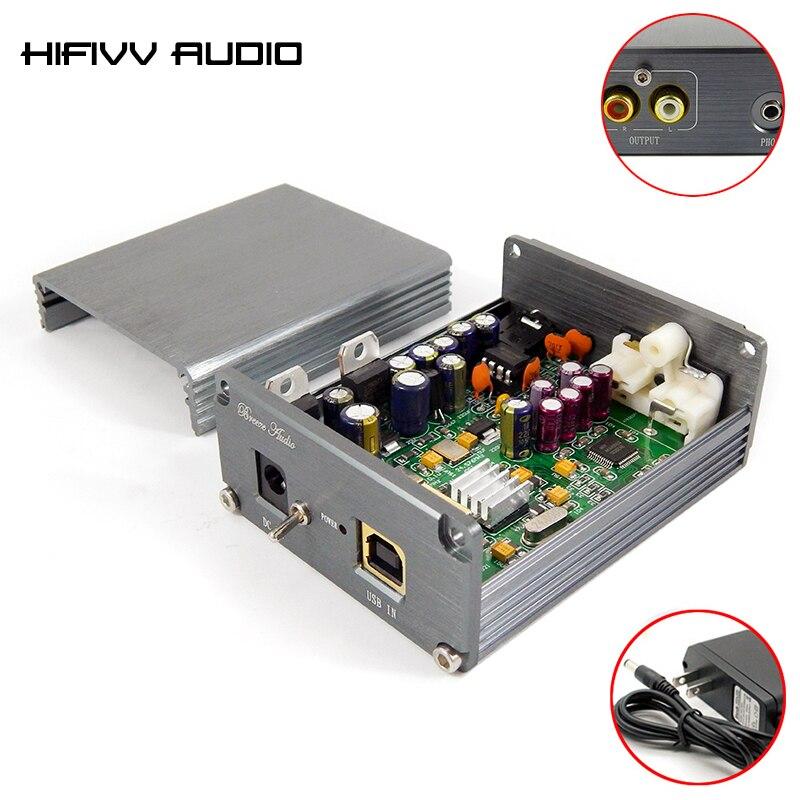 Décodeur hifi XMOS U8 + AK4490 AMP NE5532 USB DAC décodeur amplificateur sortie casque prise en charge pour PCM 24Bit 192 kHz DC9V