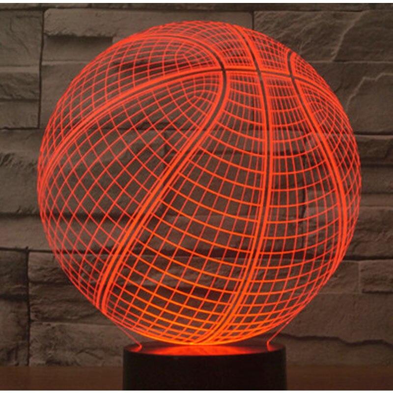 Luzes da Noite de basquete com 7 cores Tipo : Night Light