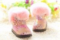 Piękne dziecko buty zimowe hurtownie różowy biały czarny brokat skóra śnieg buty dla dziewczynek 5 par/darmowa wysyłka