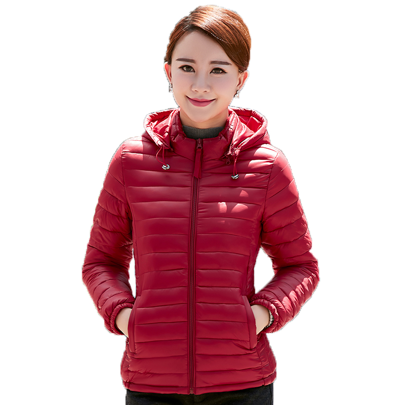 Winter Wadded Women Jacket Hooded Cotton Solid Full Sleeve Thin Slim with Hat Brand Clothing Plus Size Female Casual Warm Coat hooded collar korean new 2014 winter clothing full sleeve solid down jacket slim women casual cotton padded coat ly1066