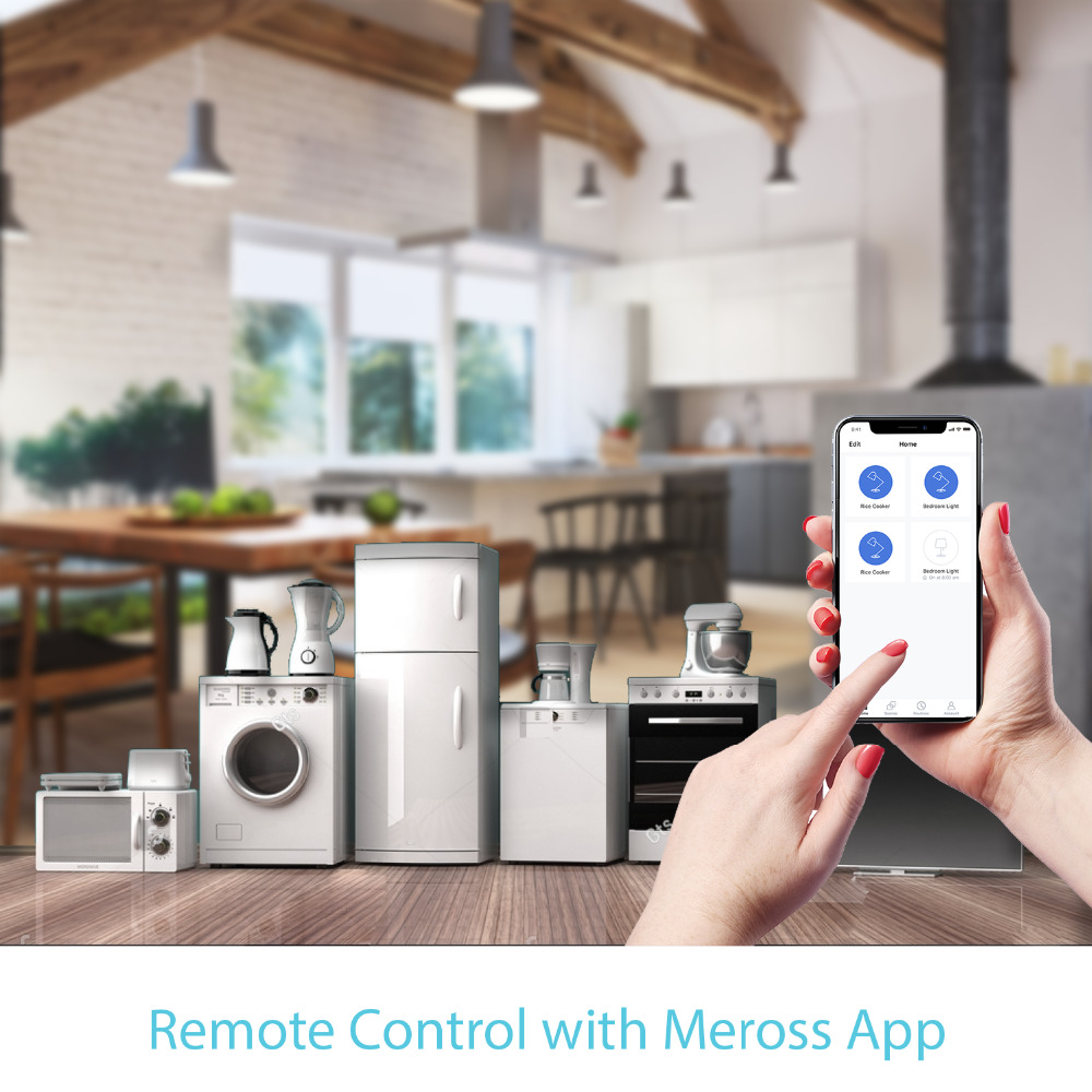 Smart WiFi Universal Switch, DIY, Amazon Alexa & Google Assistant & IFTTT  Supported, App Remote Control 4-Pack Meross MSS710