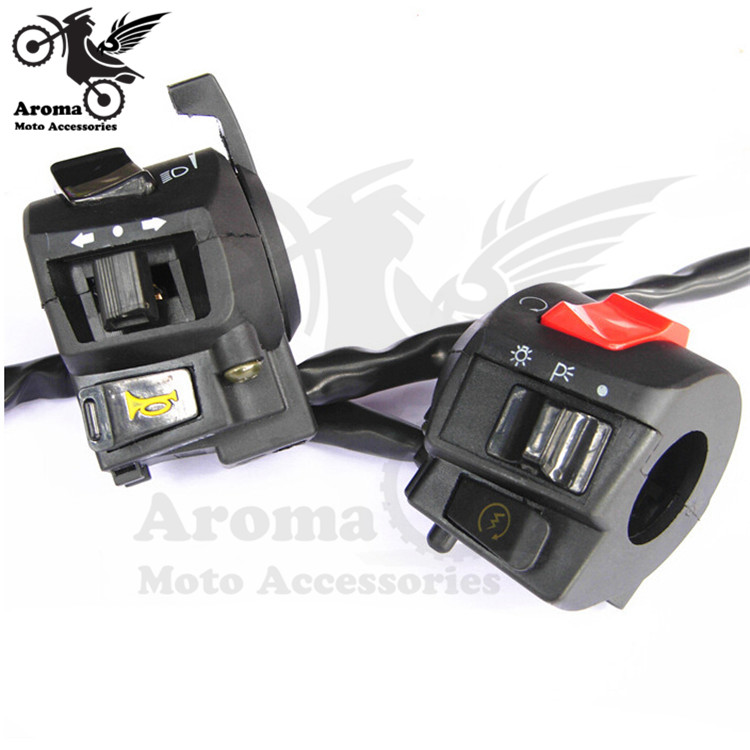 Universal Motorcycle Handlebar Switches Scooter Atv Mountain Dirt