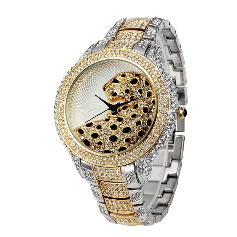 green watch stainless gold dial diamond plated mondrian ladies jbw steel