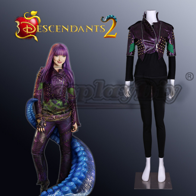 US $151 3 11% OFF|Cosplaydiy Descendants 2 Mal Cosplay Costume Mal Purple  Version Adult Fancy Party Top Costume L0516-in Anime Costumes from Novelty  &