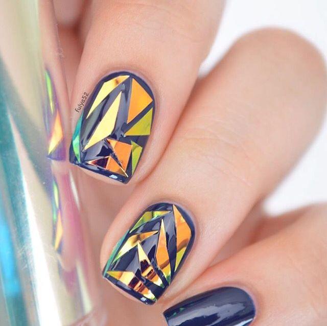 50cm Holographic Nail Foils Shiny Laser Foils Nail Art Transfer ...