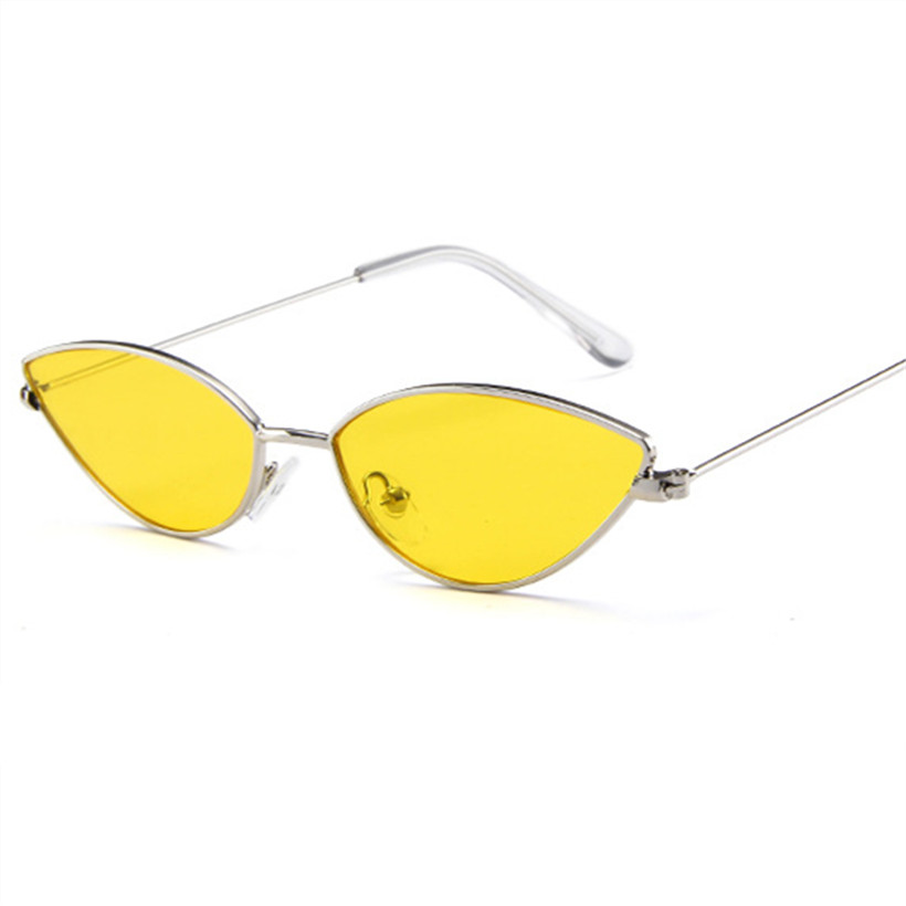 a0570e218b0 NYWOOH Small Cat Eye Sunglasses Women 90s Vintage Mirror Sun Glasses Ladies  Metal Eyewear Shades for Men