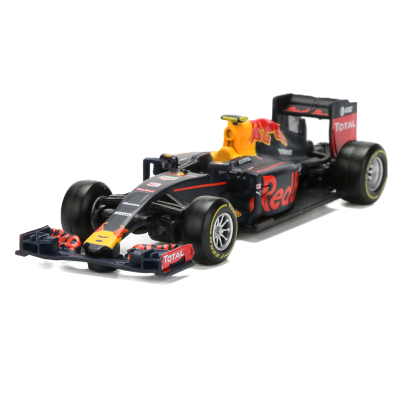 BBurago 1:43 Racing Car Toy Diecast ABS F1 Formula Racing Car Red Bull Team TAG Heuer RB12 NO.3 Model Kids Toys Brinquedos Alloy