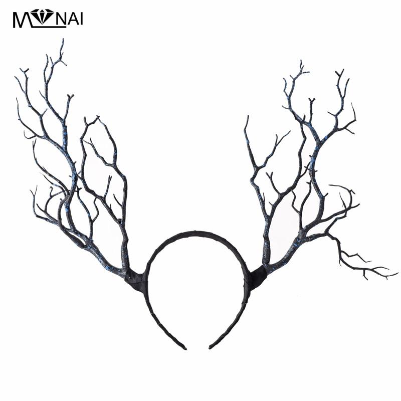 Gothic Retro Tree Branches Huvudband Props Horns Hair Accessory - Maskeradkläder och utklädnad - Foto 3