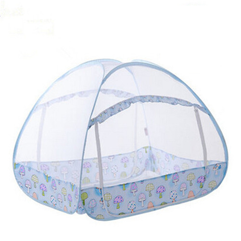 Folding Baby Bed Mosquito Netting Tent Portable Baby Bed Canopy Multi function Mongolian Yurt Mosquito Net For Children Bed mosquito nets curtain for bedding set princess bed canopy bed netting tent