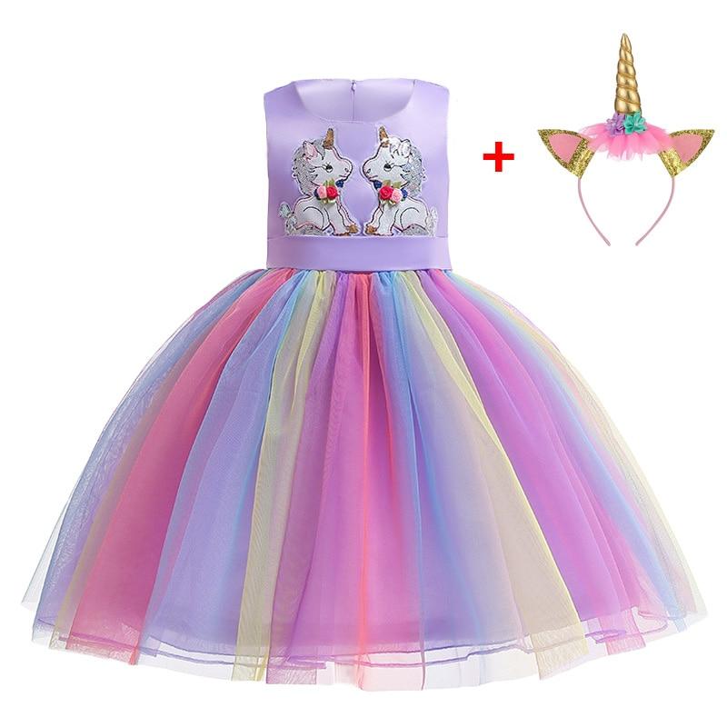 HTB1mmiYVMHqK1RjSZFgq6y7JXXak Unicorn Dress Birthday Kids Dresses For Girls Costume Halloween Christmas Dress Children Party Princess Dresses Elsa Cinderella