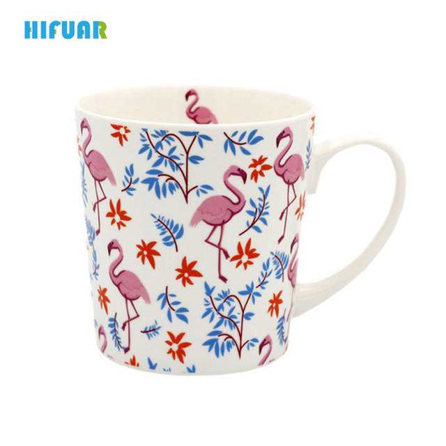 Hifuar Women Pink Flamingo Cute Mug Heat-Resistant Fantasy Coffee Mug Decorative  Cups And Mugs