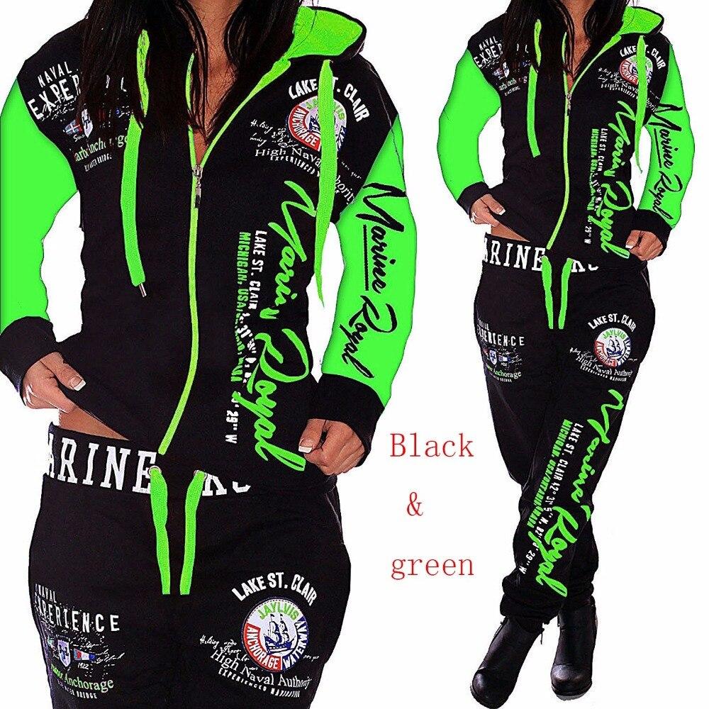 2018 Brand Autumn Tracksuit Two Piece Set Women Sweatsuits 2 Pieces Matching Set Sweat Track Suits woman joggers suit sets