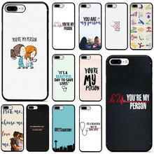 Greys Anatomy You're My Person Soft TPU Phone Case for iPhone 5 5s 6 6s 7 8 Plus X XR XS MAX(China)