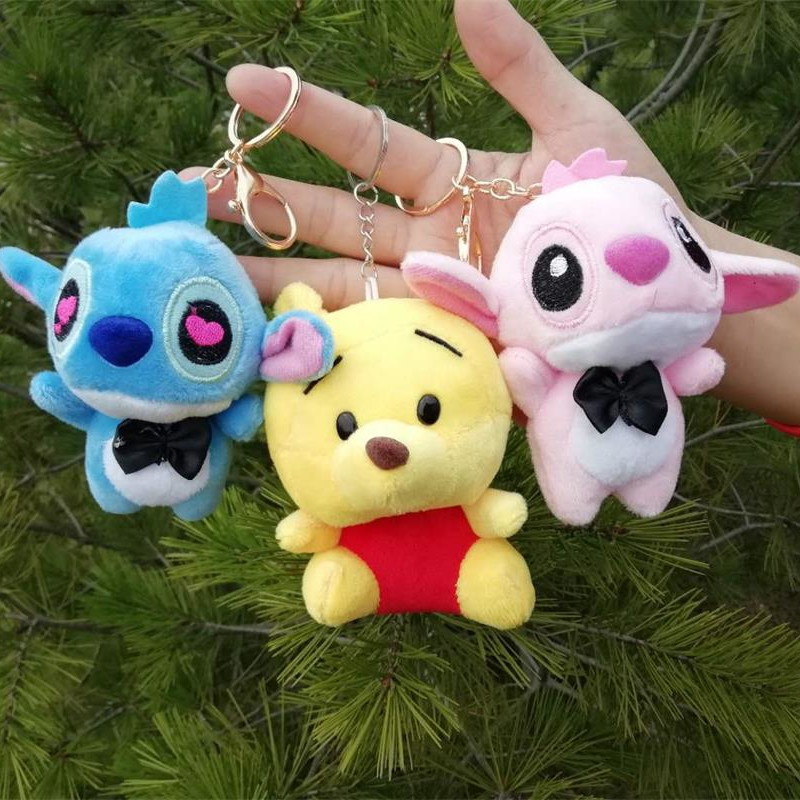 Hot Sale Cartoon Stitch Plush Keychain Toys Stuff Animals Small Pendant DIY Creative Gifts Valentine's Day Birthday Gifts