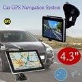 4.3 Polegada TFT-LCD Touch Screen 4 GB Car Navegação GPS Navigator com MP3 Player/Rádio FM/Hora e data