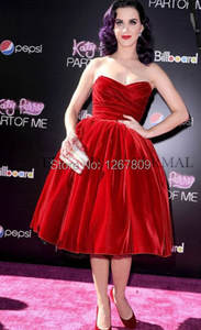 Celebrity-Dress The-Shoulder New Myriam Pleat Sweetheart Knee-Length Ball-Gown Fares