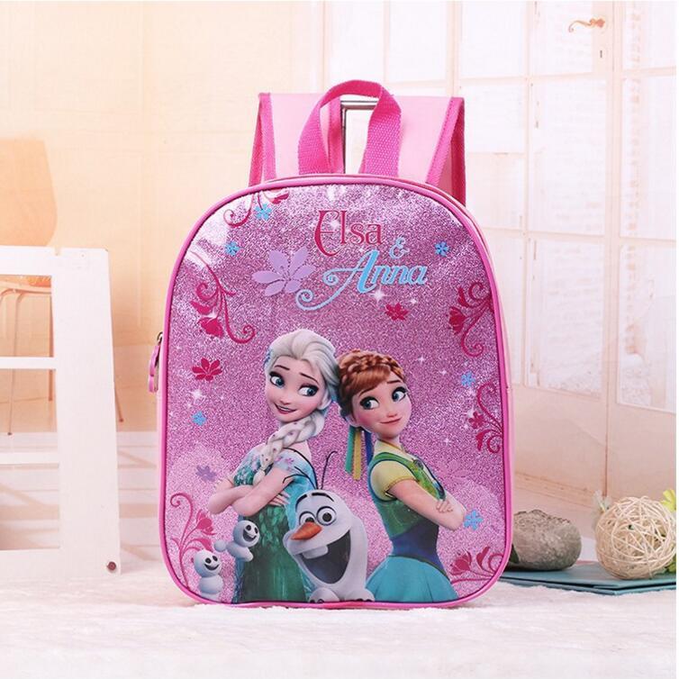 2017 New font b kids b font cartoon Elsa Anna schoolbag girls princess cute school bag
