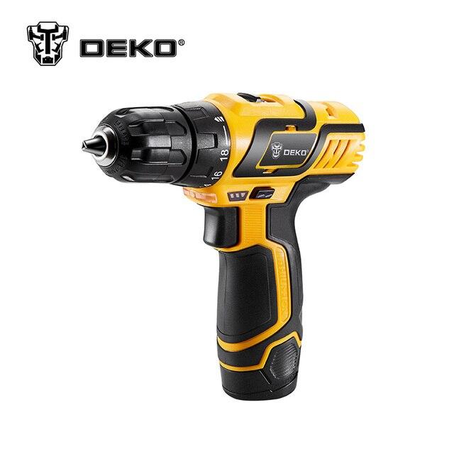 DEKO GCD10.8DU3 10.8V DC New Design Household Lithium-Ion Battery Cordless Drill/Driver Power Tools Electric Mini Drill