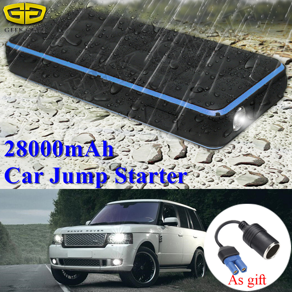 Imperméable à l'eau 28000mAh voiture saut démarreur batterie externe 1000A 12V Portable démarrage dispositif Booster voiture chargeur pour voiture batterie Buster