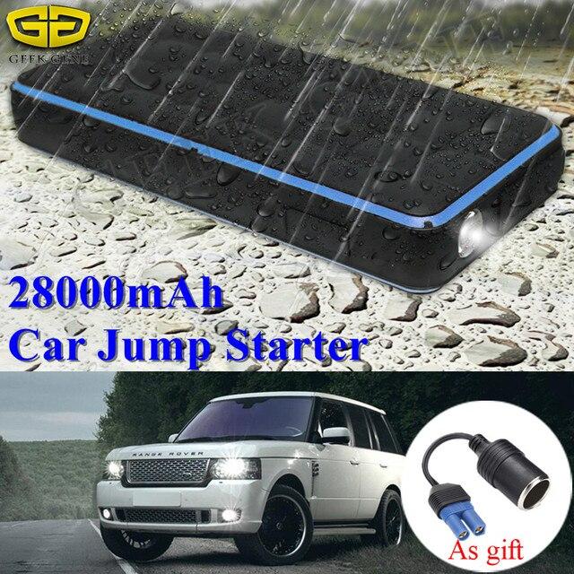 À prova d' água 28000 mAh Car Ir Para Iniciantes Power Bank 1000A 12 V Dispositivo de Partida Portátil Carregador para Bateria de Carro de Carro Do Impulsionador buster