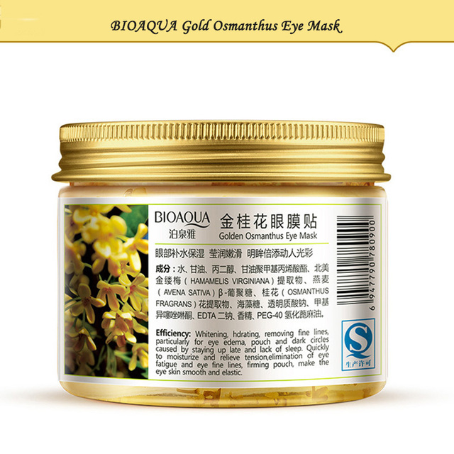 BIOAQUA Gold Osmanthus Eye Mask Eye Patches  Remove Dark Circles Eye Bag Collagen Gel Protein Sleep Patche  Eye Care 3