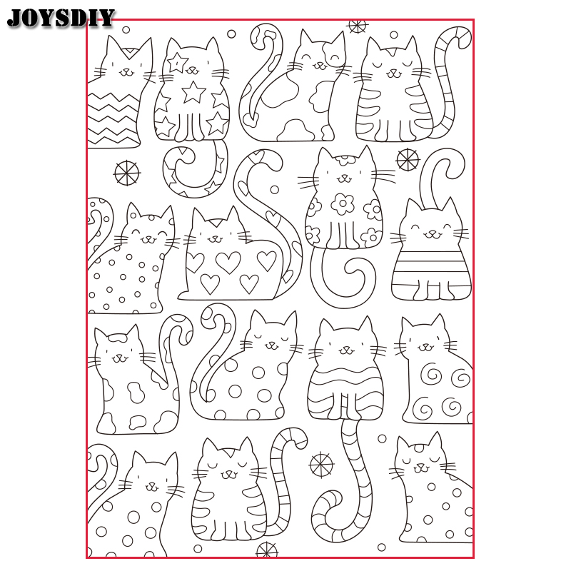 All kinds of cats Scrapbook   photo cards account rubber stamp clear stamp transparent stamp Handmade card stamp spider texture background scrapbook diy photo cards account rubber stamp clear stamp transparent stamp handmade card stamp