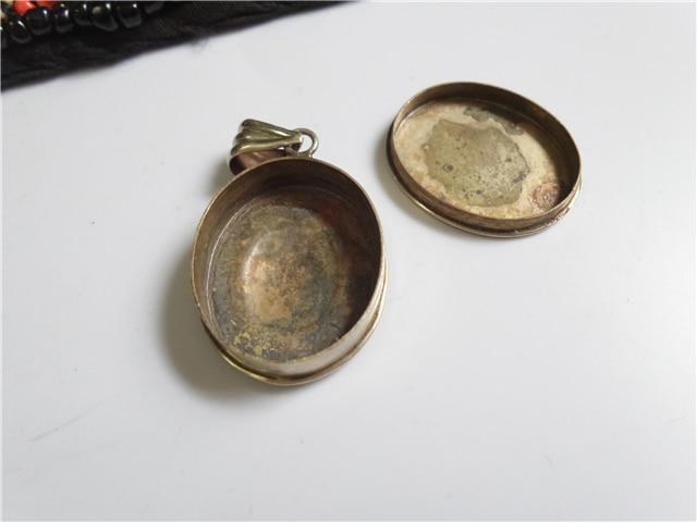 TGB252 Тибетский крест дорье молитвенный ящик амулет белый металл медные Подвески с лотосом