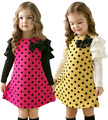 Girls dresses baby kids clothes 2015 new fashion  high quality cotton spring children clothing long-sleeve  girls princess dress