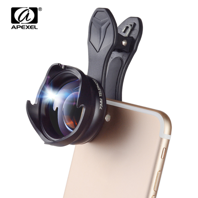 new arrival f2888 60e33 US $28.9 19% OFF|APEXEL phone camera Lens 2.5X telephoto zoom lens  Professional HD Portrait lens lentes for iPhone lensmore telephone 70mm-in  Mobile ...