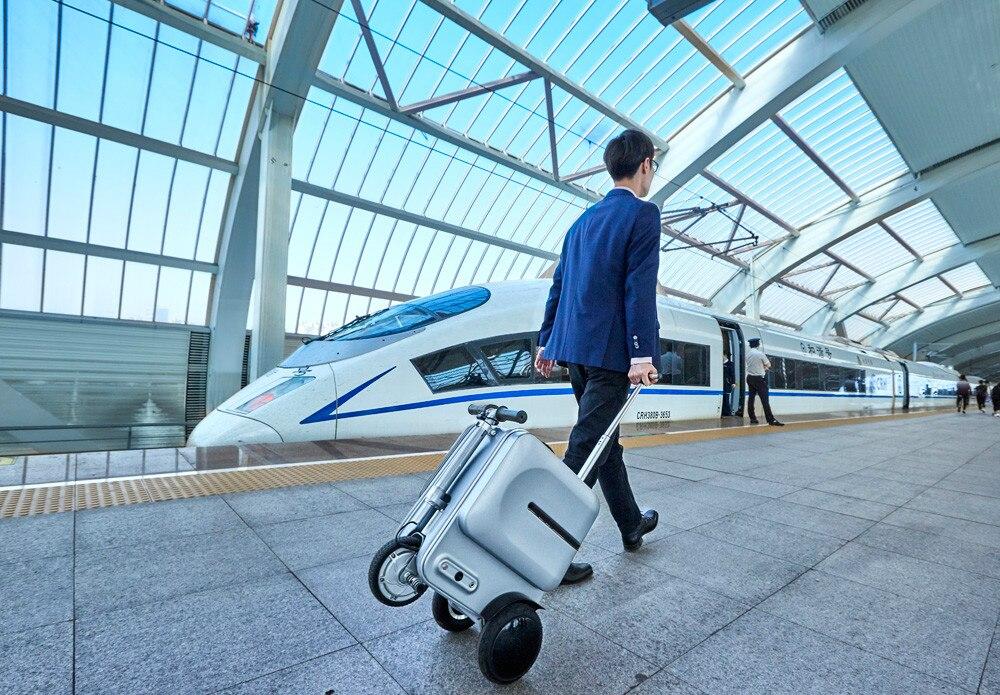 Robot Battery De Ba argent Haute Intelligente Smart Valise Sur Voyage 2 Électrique noir 185wh And bluetooth Chariot Luxueux Bagages Ba 74wh Bag capacité Équitation Speaker Bluetooth Ba Sac Transporter tSUOzq