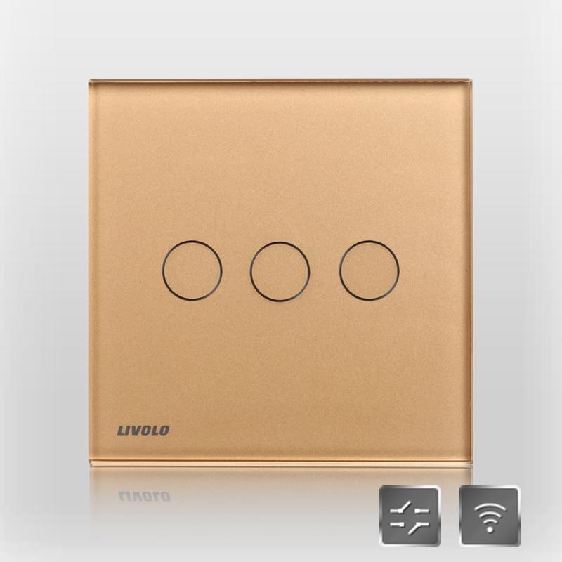 Livolo interrupteur double commande interrupteur éclairage interrupteur à distance double commande interrupteur vl-c603sr-13