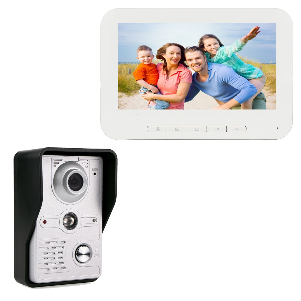 7 Color TFT LCD Screen Video Door Phone Dual-way Video Intercom Doorbell Camera Night Vision F3368B door intercom video cam doorbell door bell with 4 inch tft color monitor 1200tvl camera